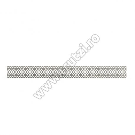 ELEMENT DECORATIV DIN TABLA DECUPATA, H 100MM, L 1000MM, GR. 3.0 MM 54228